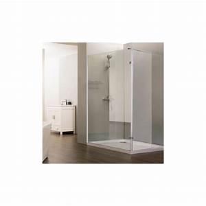paroi de douche fixe avec retour 10 mm sturdy 12040 cm With porte de douche coulissante avec miroir retro eclaire salle bain