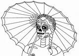 Coloring Pages Skull Dead Printable Muertos Dia Los Print Sheets Parade Popular Enlarge Save Right Cool Filminspector Wenchkin Flats sketch template