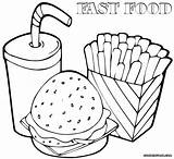 Food Coloring Pages Fast Printable Print Colorings Template Coloringway sketch template