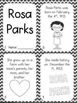 rosa parks activity pack black history month printable worksheets  kids