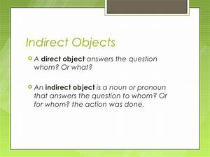Diagramming Sentences With Indirect Objects With Answers