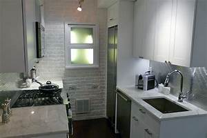 tiny galley kitchen remodel joy studio design gallery With kitchen colors with white cabinets with long narrow horizontal wall art