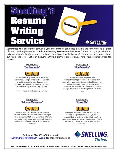 resume and cv writing service resume writing services flyer