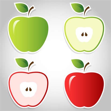 Manzana roja y verde | Vector Premium