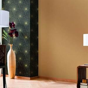 Papier Peint Noir Et Doré : papier peint intiss eventail noir leroy merlin ~ Melissatoandfro.com Idées de Décoration