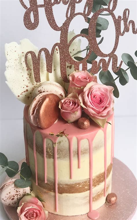 You will find cakes for women and men with pictures. 60th birthday cake, Luxury drip cakes - Antonia's Cakes Merseyside