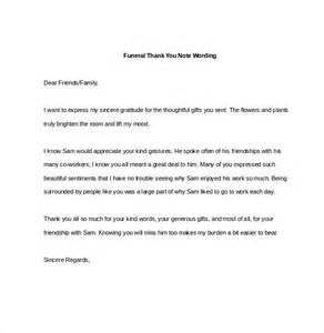 Sample Thank You Note for Funeral Donations