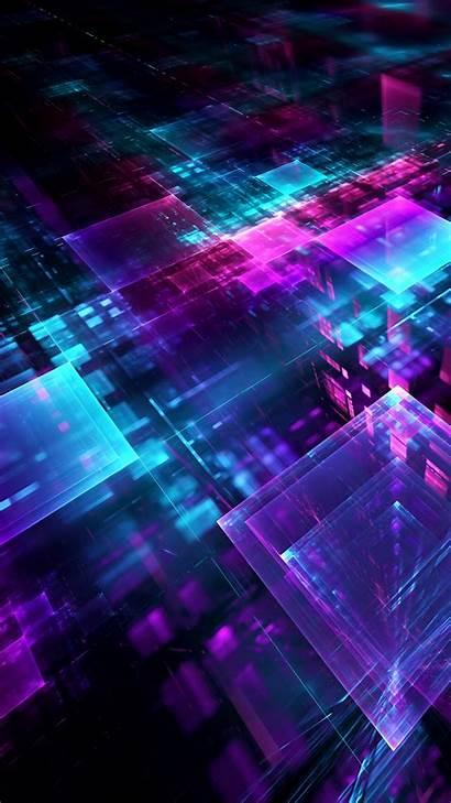3d Digital Lines Geometric Cube Wallpapers 5k