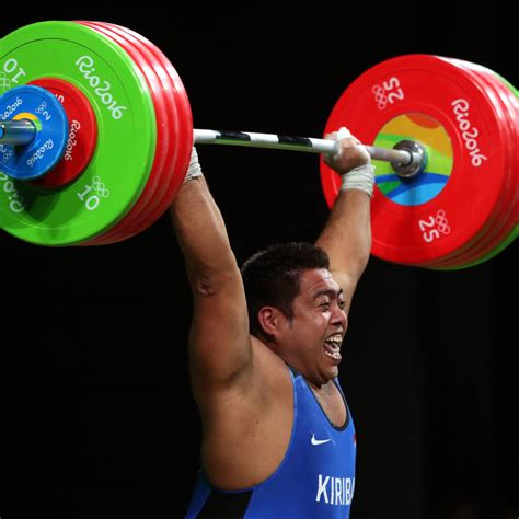 letter of the week weightlifter david katoatau dances at the olympics 38567