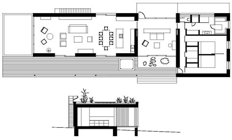 floor plans rectangular house weekend house by marketa cajthamlova 32 homedsgn