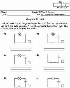Practice Drawing Circuit Diagrams Worksheet