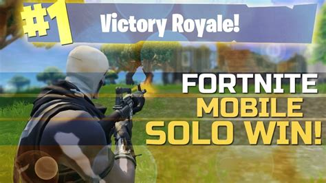 fortnite mobile gameplay   solo win youtube