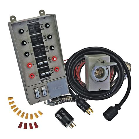 reliance controls 31410crk portable 10 circuit generator transfer switch kit ebay