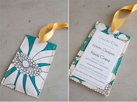 made by me destination wedding fabric save the date