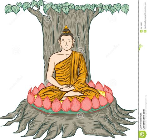 Illustration Of Buddha, Isolated On White ,buddha's Enlightenment Stock Vector  Image 53612892