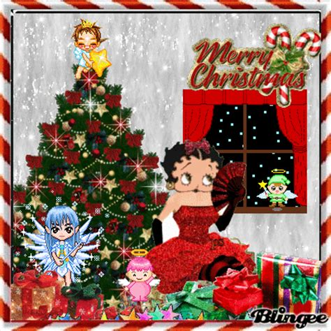 betty page under the christmas tree with betty boop and friends picture 133804494 blingee