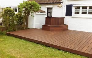 terrasse en bois fiberon horizon pour embellir votre With jardin paysager avec piscine 5 terrasse en bois composite fiberon xtrem galaxy jardin