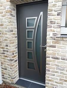 Pose Porte D Entrée : pose d 39 une porte d 39 entr e en aluminium de chez kline ~ Melissatoandfro.com Idées de Décoration
