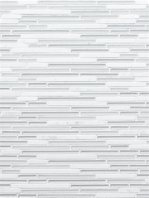 modern white marble glass linear backsplash tile