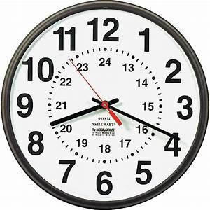 Skilcraft 12  24 Hour Wall Clock - Analog - Quartz