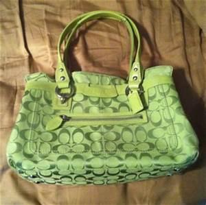 Free Coach Lime Green Penelope Handbag Shopper Purse