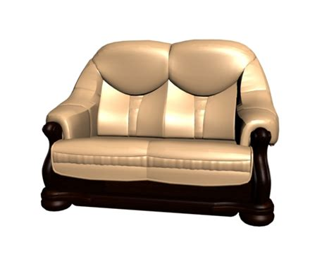 les canap駸 en bois chaise r tro en bois dor mod le 3d de canap 3d model free 3d