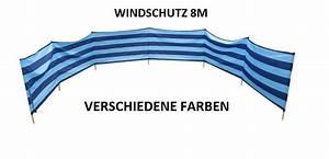 Windschutz Strand Stoff : windschutz sichtschutz f r strand garten see meer 8m baumwolle ebay ~ Sanjose-hotels-ca.com Haus und Dekorationen