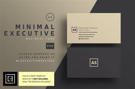 minimal executive business card  business card