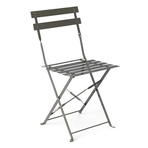 chaise de cing pliante chaise de jardin pliante taupe en acier pims chaises