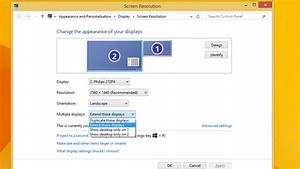 How To Duplicate Or Extend Screen On Multiple Monitors In