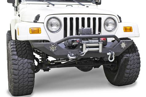 jeep winch bumper fishbone offroad fb22016 front winch bumper with led 39 s for