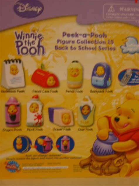 peek a pooh 15 winnie the pooh set from tomy ebay