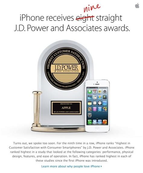 All you need to do, it to share your visit experience with them by taking. Apple Updates 'Why iPhone' Page to Reflect 9 Straight JD Power Awards PIC | iPhone in Canada Blog