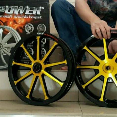 jual velg mio j fino 110 soul gt 110 merk power type sun black gold di lapak ijmjakarta velgmotor