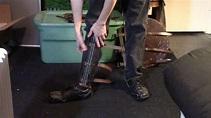 Splinted 18g Leg Armor Viking Greaves - YouTube