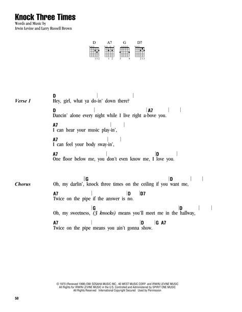 knock  times sheet   dawn lyrics chords