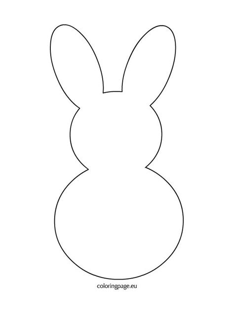 bunny rabbit template crafts easter pinterest