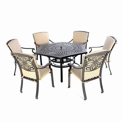 Table Chairs Dining Fire Garden Furniture Metal