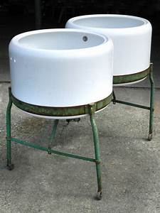 Double, Porcelain, Wash, Tubs, At, 1stdibs