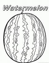 Watermelon Coloring Fruit Printable Sheets Preschool Cartoon Mouse Toddlers sketch template