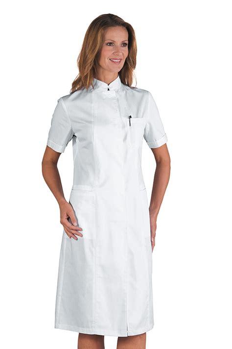 blouse de cuisine femme pas cher blouse blanche de travail en coton avec col mao