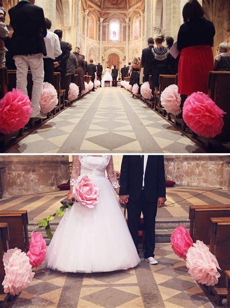 des pompons pour decorer l eglise d 233 co 233 glise mariage