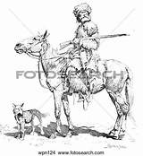 Trapper Clipart Clipground Drawing Rifle Dog Illustration sketch template