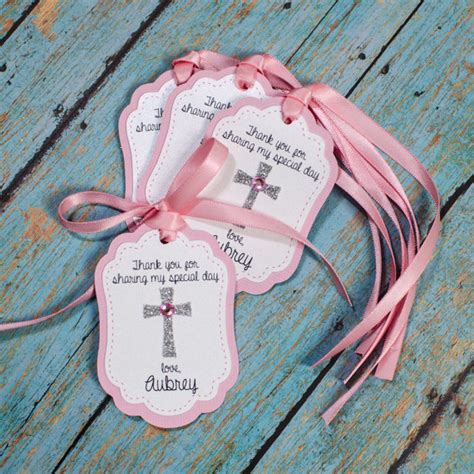 baptism personalized favor tags cross favor tags