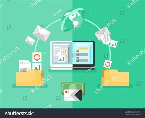 Electronic Document Management Data Digital File Stock