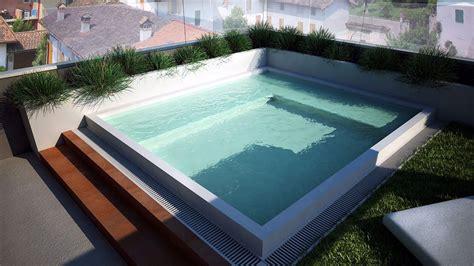 piscina su terrazzo piscina a sfioro su terrazzo progettazione e