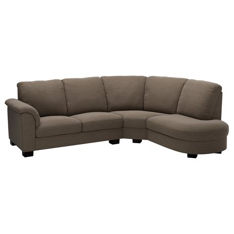 canap angle ikea tidafors corner sofa with arm left hensta light brown ikea