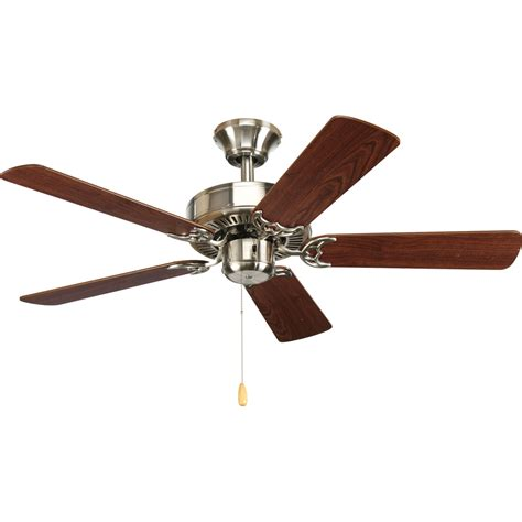 40 inch ceiling fan with lights progress lighting airpro brushed nickel 42 inch 5 blade