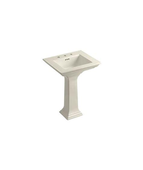 kitchen cabinet accesories kohler k 2344 8 47 almond memoirs 24 quot pedestal fireclay 2344