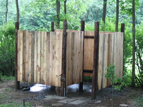 Outdoor Showers : Old Fashioned Outdoor Shower Designs Designed Using